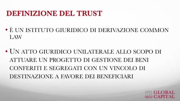Definizione del trust