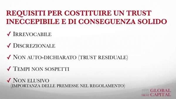 Requisiti di un trust solido