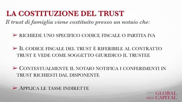 Costituzione di un trust